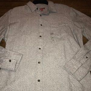 Arizona Jeans Co Heavy Cotton L/S Shirt Size Med